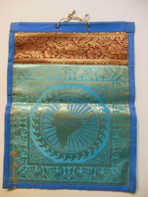 """Home Party Decor Silk Brocade Wall Tapestry Hanging Magazine Holder Rack 34/"""""""