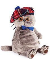 Plüschtier Katze mit Barett Basik Scottishfold Cat Softtoy Stuffed Peluches 19cm