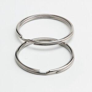 25mm Split Ring /& Chain KEY KEYRINGS  ROUND RING KEYRING KEYS CLASP 10 to 1000