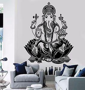 Wall Decal Buddha Lord Ganesha Indian God Buddhism Vinyl Sticker ... 88e11d1a1