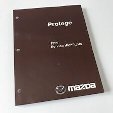NEW 1999 Mazda Protege Factory OEM Workshop Service Highlights Repair Manual