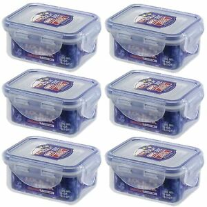 6 X LOCK AND LOCK PLASTIC FOOD STORAGE CONTAINER 180ML HPL805 eBay