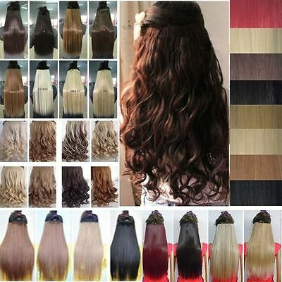 1 Pcs 3/4 full head clip in hair extensions high quality top style hair pieces