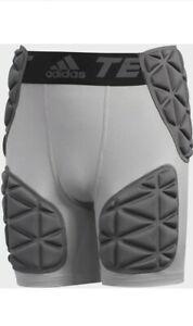 Adidas Football Techfit Smash 5 Padded Girdle Shorts Light Gray Size 3xl #BS2666