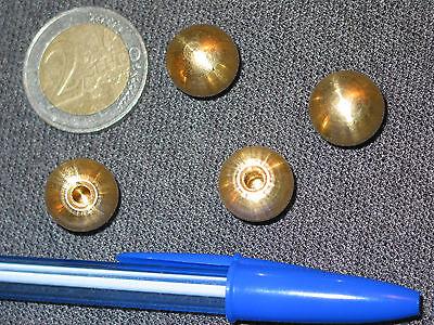 4 boules laiton Ø10 mm raccord fin de lustre lampe horloge appliques guariche*
