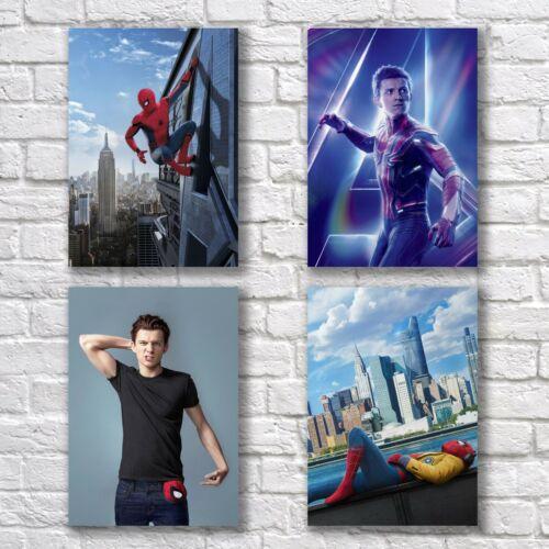 Tom Holland Poster A4 Set HQ Print Spider-man Peter Home Wall Decor