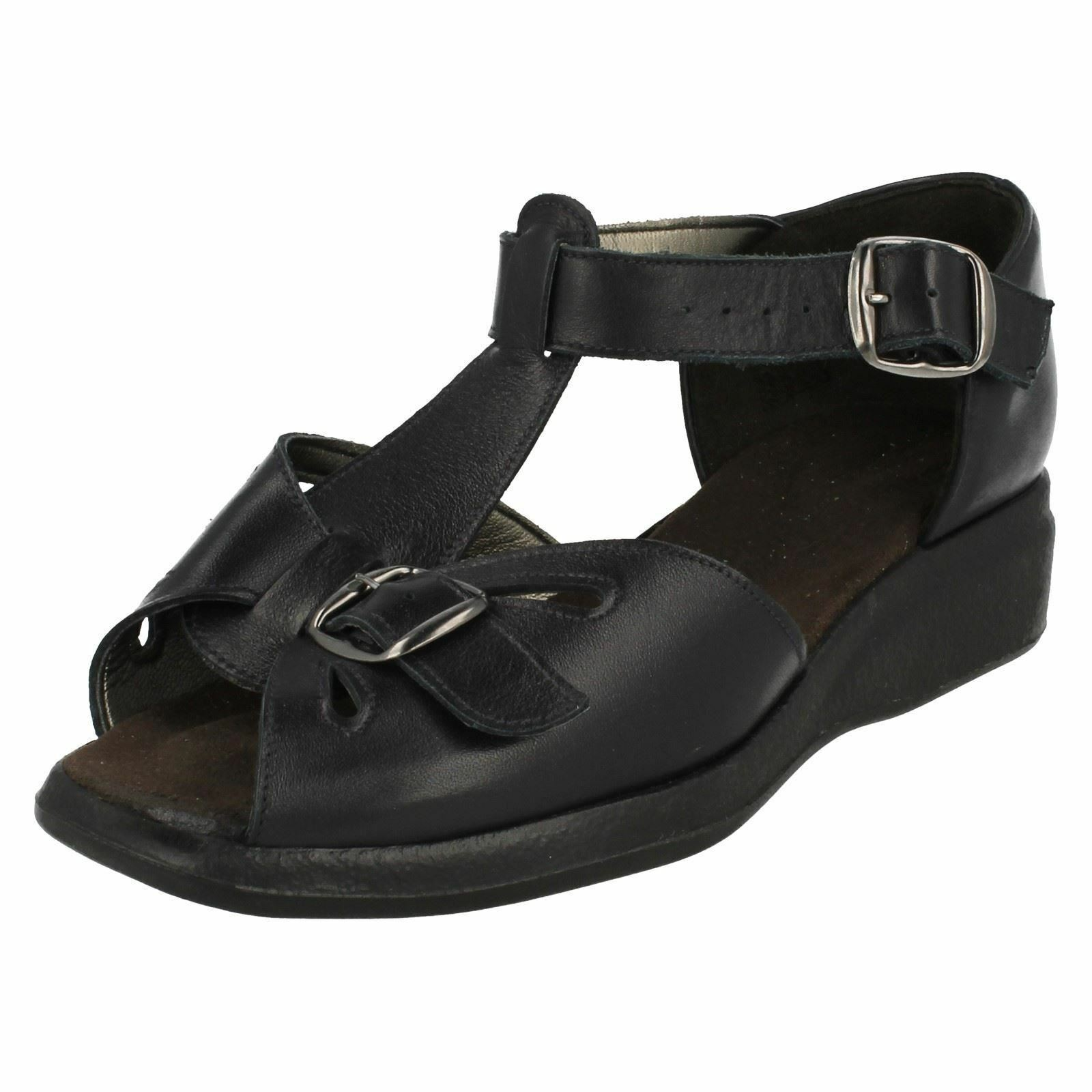 Ladies Semele size by E navy leather sandal by size Equity a6a77e