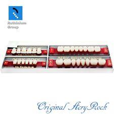 4pcs Set Acrylic Dental Lab Teeth Ruthinium Acryrock Teeth A1 Size 14 Full Mouth
