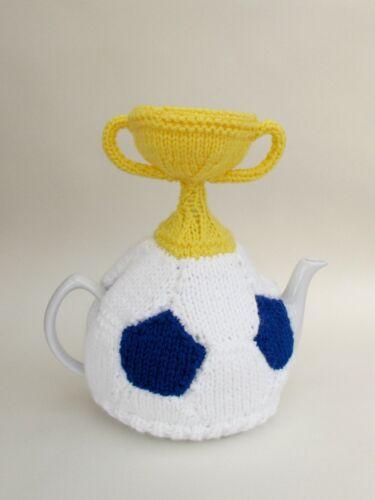 Trofeo Copa Mundial de fútbol y cubre Tetera Tejer patrón a tejer su propio