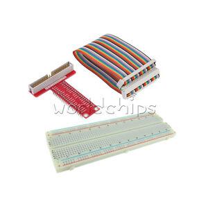 Raspberry Pi 2 B Kits+Breadboard+T Type GPIO Extension Board+40Pin Rainbow Cable