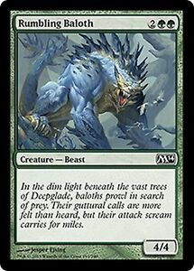 Trollhide  x4  EX//NM CHINESE M14  MTG Magic  Green  Common