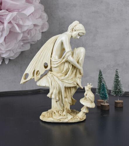 Skulptur Prinzessin /& FROSCHKÖNIG ELFE FEE MÄRCHEN FIGUR Dekofigur Vintage Deko