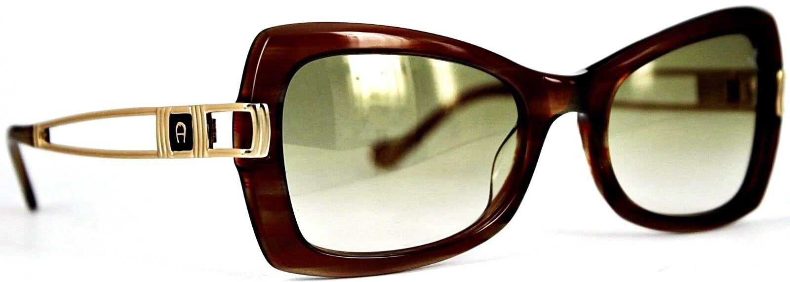 Aigner señora gafas de sol mod EA 810 136 marrón estampadas 249 36