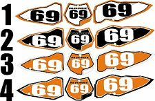 Number Plate Graphics for 2007-2010 KTM SX 125-250 sxf 250-450 Side Panels Decal