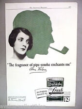 Tuxedo Smoking Tobacco PRINT AD - 1926 ~~ Alma Rubens