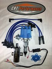 FORD 300 / 240 I6 4.9L Small Cap BLUE HEI DISTRIBUTOR + 45K CHROME COIL + WIRES