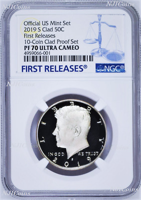 Early Releases 2019 S Clad 50C Proof Kennedy Half Dollar NGC PF70 ULTRA CAMEO
