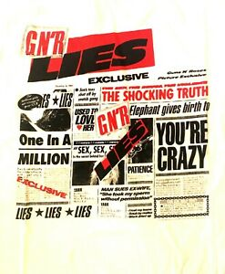 GUNS-N-039-ROSES-cd-cvr-GN-039-R-LIES-Official-White-SHIRT-LG-New-you-039-re-crazy-patience
