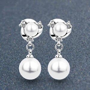 2fcdd27d6 Image is loading Women-Fashion-Crystal-Pearl-Drop-Dangle-Tassel-Ear-