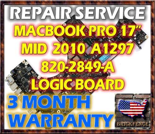 """MACBOOK PRO A1297 17/"""" 820-2849-A MID 2010 LOGIC BOARD REPAIR 661-5472 661-5526"""