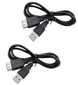 2 USB Extension Cables for Samsung HMX-U15 HMX-U15BN HMX-U15LN HMX-U15ON U15WN