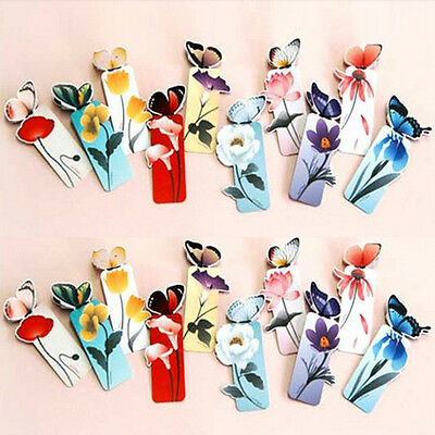 Creative Butterfly Bookmarks Cartoon Book Marks Paper Clip Office School Gifts