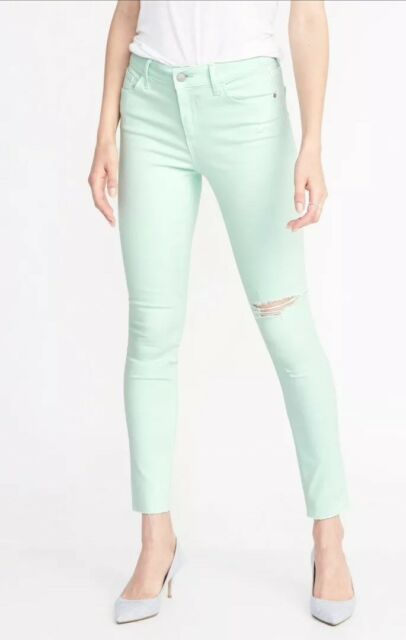 f8ef57bc83b Old Navy Mid-Rise Rockstar Distressed Super Skinny Ankle Jeans - NWT ...