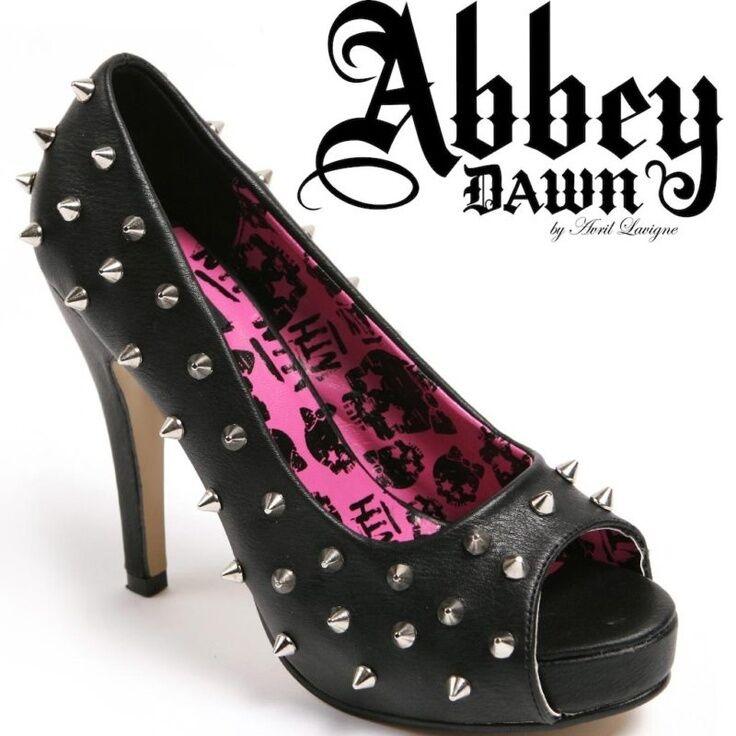 Iron Fist Abbey Dawn Avril Pyramid Lavigne Wth Platform Gold Pyramid Avril Studs Heels Shoes 63f282