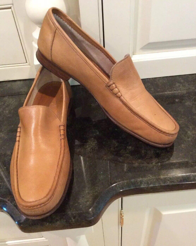 Johnston & Murphy Douomoi Tan Venetian Loafers, Dimensione 9.5 M. Nice  Sautope classeiche da uomo