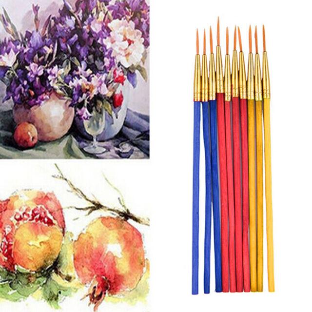 10Pcs/Set Fine Hand-painted Thin Hook Line Pen Drawing Art Pens Paint Brush ki