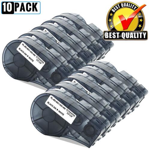 """10PK White Label Tape M21-500-499 Compatible for BRADY BMP21-PLUS BMP21-LAB 1//2/"""""""