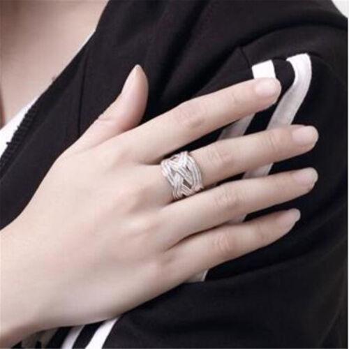 Wholesale Fashion 925 Sterling Argent plaqué Femmes Grille ANNEAUX Hommes Anneaux JZ002