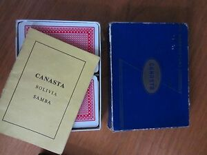 Vintage WADDINGTONS BLUE BOX CANASTA CARD GAME  and RULES retro - <span itemprop=availableAtOrFrom>UK, United Kingdom</span> - Vintage WADDINGTONS BLUE BOX CANASTA CARD GAME  and RULES retro - UK, United Kingdom