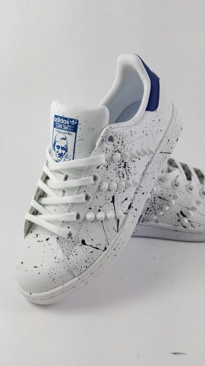 Schuhe Adidas Stan Smith mit für Feldspritze und Stachel
