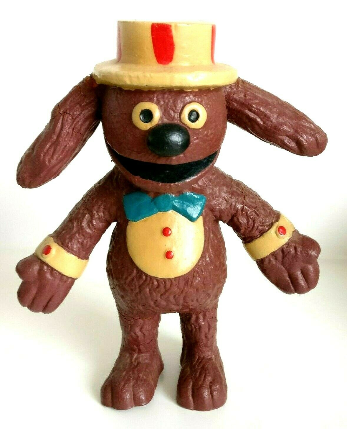 Vintage Muppets Doll - Rowlf   Rolf The Dog 1977 Toy - Bendy Toy
