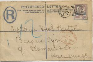 GB-1887-QV-2D-provisional-registered-env-uprated-Jubilee-5D-TYPE-I-INVERKEITHING