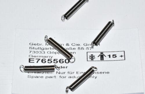 E765560 Zugfeder für Wagen 16 mm Federset NEU Märklin 765560 5 Stück Feder