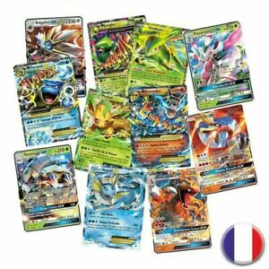 Lots-de-100-Cartes-Version-francaise-Pokemon-GX-FR-Brillantes-Mega-EX-Rares