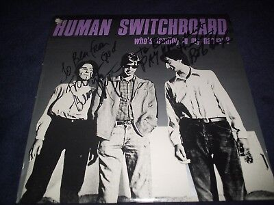 """Human Switchboard Signed Record Titled """"whos Landing In My Hangar"""" Extra Rare!! Entertainment Memorabilia Autographs-original"""