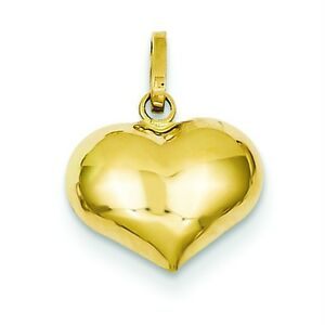 14K-Yellow-Gold-3-D-Hollow-Polished-Puffed-Love-Heart-Valentine-Charm-Pendant