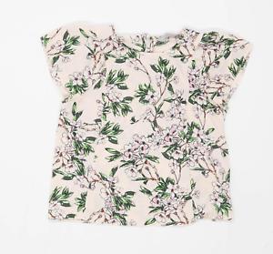 Dorothy Perkins Womens Size 8 Floral Pink Top (Regular)