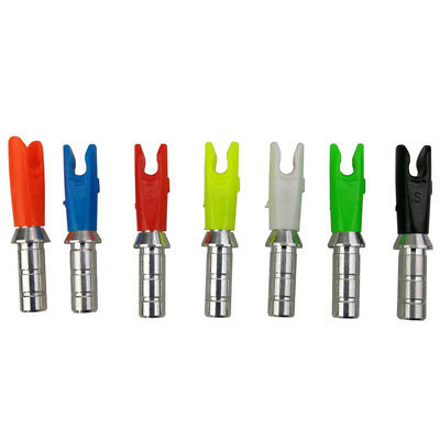 ID 6.2mm Arrow Shaft Archery Nock Pins Tails Set Outdoor Sports Practice Tools