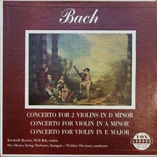 REINHOLD BARCHET / WILL BEH,  BACH CONCERTOS 50'S LP VOX PL 9150