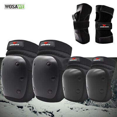 Ski Skateboard Cycling Knee Elbow Pads Set BMX Joint Safety Hip Protector Adult