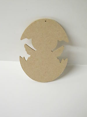 Hatching Chick Wooden Shapes. SET OF 2 with hole