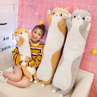 Plush Long Cat Doll Soft Stuffed Kitten Pillow Sofa ids Sleeping Pillow 50//70cm