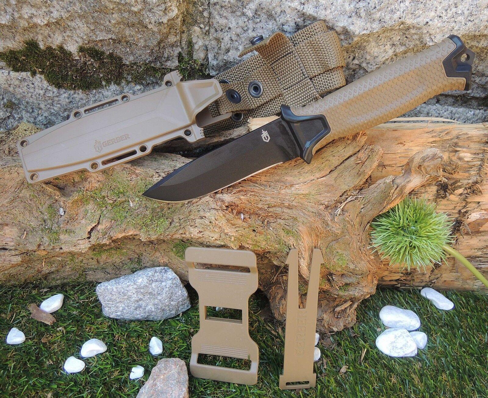 Gerber Strongarm coyote Messer Fahrtenmesser Outdoormesser + MOLLE Scheide G1058  | Erste Kunden Eine Vollständige Palette Von Spezifikationen