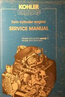 Kohler Kt17 Kt19 Ser.ii Kt21 Kt Engine Service Manual 78pg Welder Garden Tractor