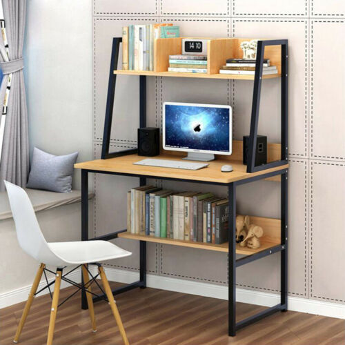 Computer Desk Small With Shelves Kids Study Laptop Table MDF Chipboard /&steel