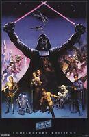 EMPIRE STRIKES BACK ~ BORIS VALLEJO CAST ART 21x32 MOVIE POSTER Star Wars